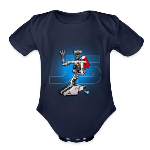 J5 Retro Robot by XLRobots - Organic Short Sleeve Baby Bodysuit