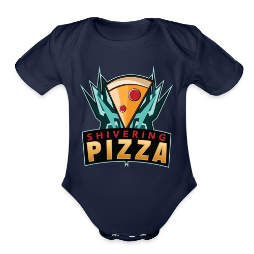 Shiveringpizza Logo - Organic Short Sleeve Baby Bodysuit