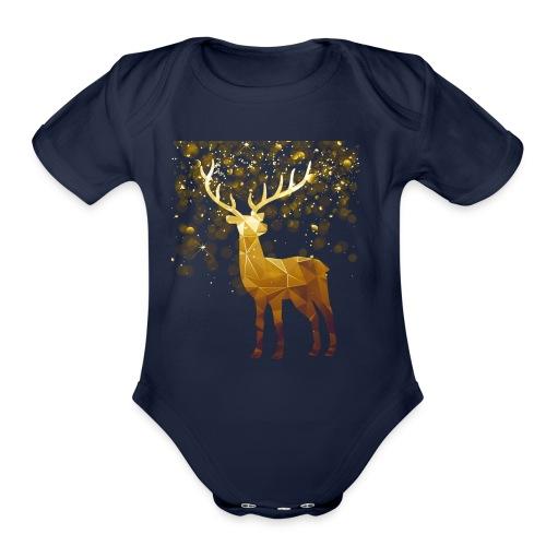 Deer Lover T shirt - Organic Short Sleeve Baby Bodysuit