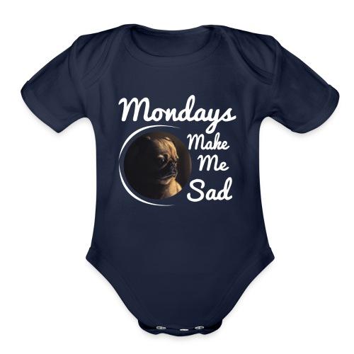 Sad Mondays - Organic Short Sleeve Baby Bodysuit