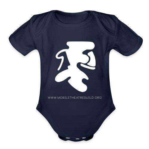 Comedy_Tragedy_Logo_MTG - Organic Short Sleeve Baby Bodysuit