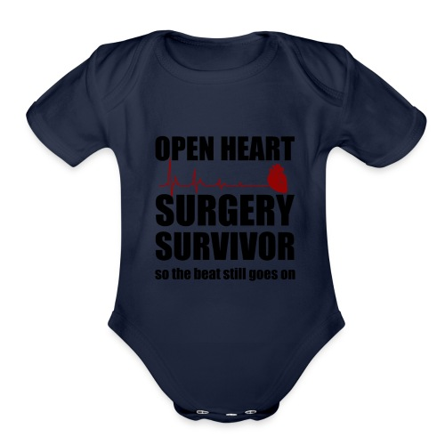 openheart surgery - Organic Short Sleeve Baby Bodysuit