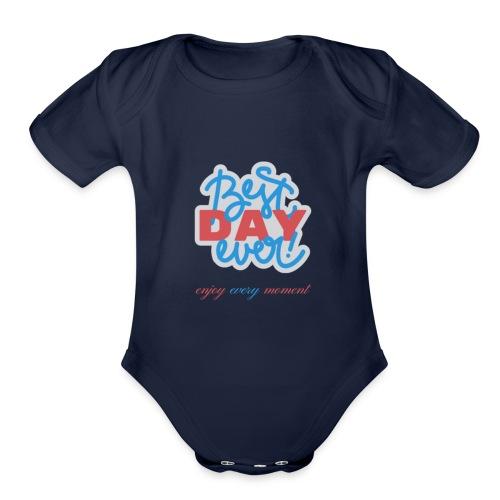 New Front Shirt - Organic Short Sleeve Baby Bodysuit