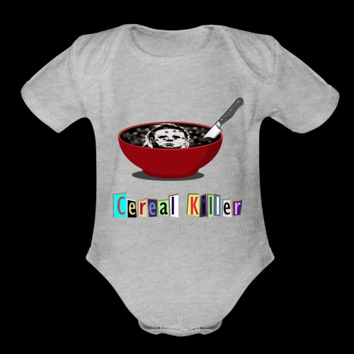 Cereal Killer | Funny Halloween Horror - Organic Short Sleeve Baby Bodysuit