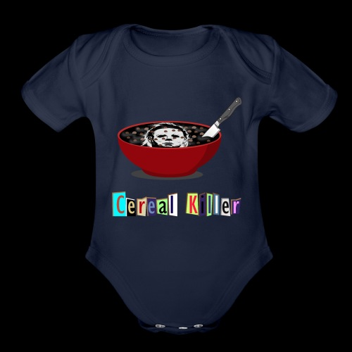 Cereal Killer | Funny Halloween Horror - Organic Short Sleeve Baby Bodysuit