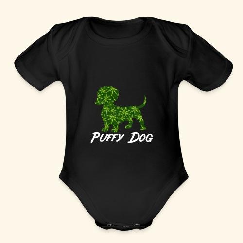 PUFFY DOG - PRESENT FOR SMOKING DOGLOVER - Organic Short Sleeve Baby Bodysuit