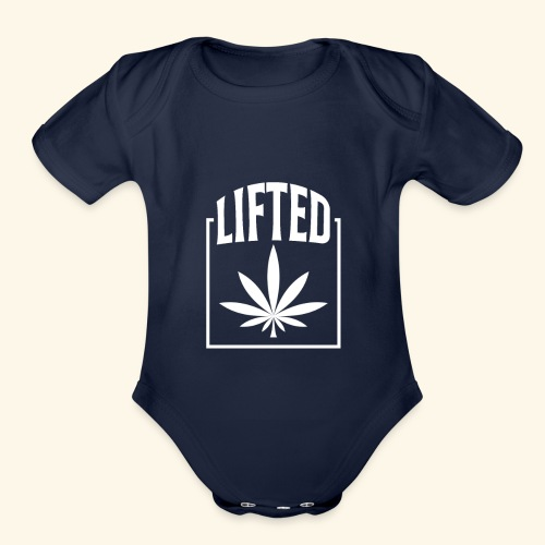LIFTED T-SHIRT FOR MEN AND WOMEN - CANNABISLEAF - Organic Short Sleeve Baby Bodysuit