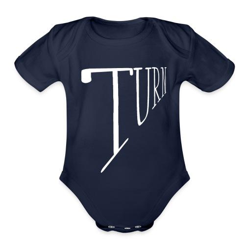 turn clothing co perspective white - Organic Short Sleeve Baby Bodysuit