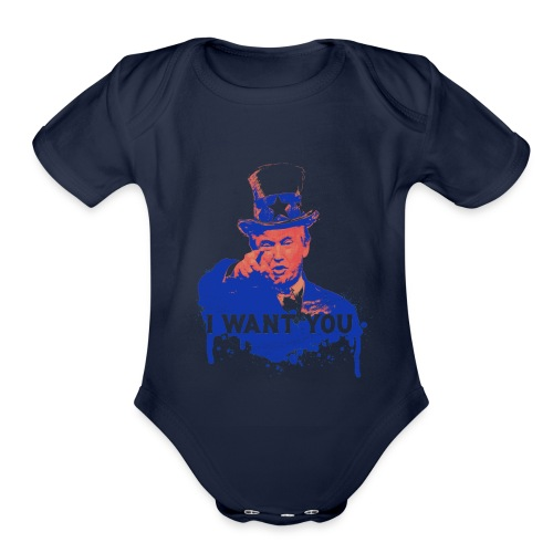 Donald Trump as Uncle Sam - Organic Short Sleeve Baby Bodysuit