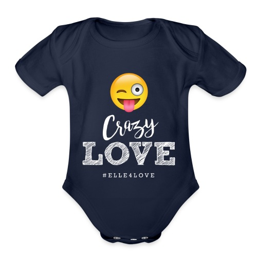Crazy Love - Organic Short Sleeve Baby Bodysuit