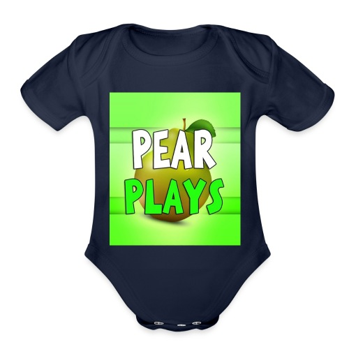 Phone Case Pear Plays Logo - Organic Short Sleeve Baby Bodysuit