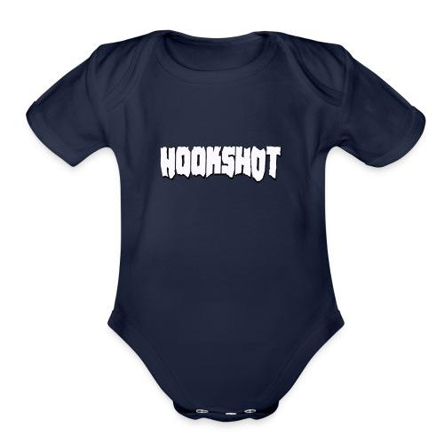 Hookshot White Logo - Organic Short Sleeve Baby Bodysuit