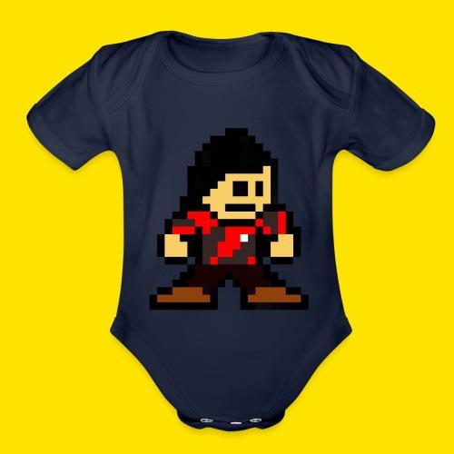 Kuna Mega Man Logo Unisex Tie-Die - Organic Short Sleeve Baby Bodysuit