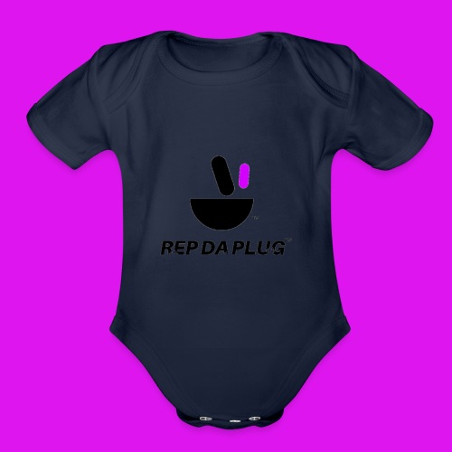 Plug de Música logo - Organic Short Sleeve Baby Bodysuit