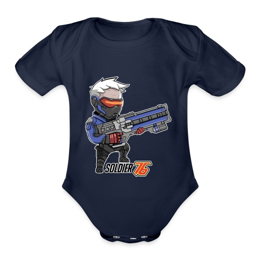 Soldier 76 - Organic Short Sleeve Baby Bodysuit