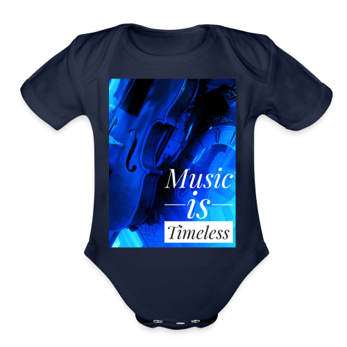 BANKHEAD VIOLINIST Music Is Timeless Original - Organic Short Sleeve Baby Bodysuit