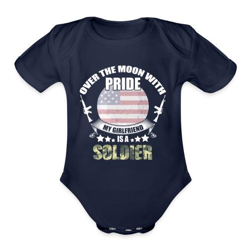 Great Gift For Soldier Girlfriend. Shirt From men - Organic Short Sleeve Baby Bodysuit