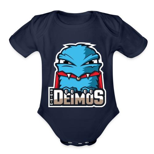 Deimos Logo Phone Case - Organic Short Sleeve Baby Bodysuit