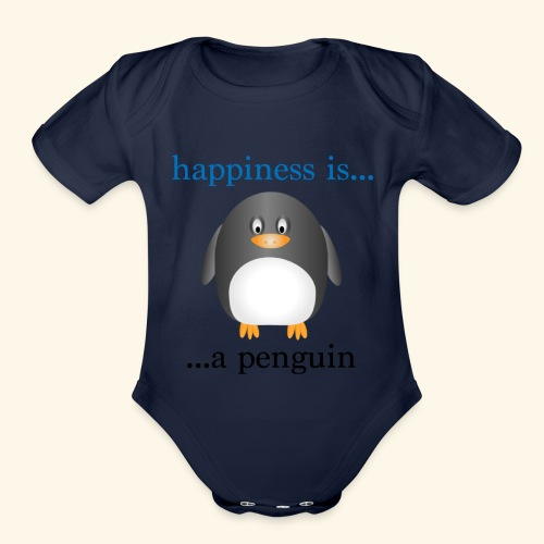 Penguin - Organic Short Sleeve Baby Bodysuit