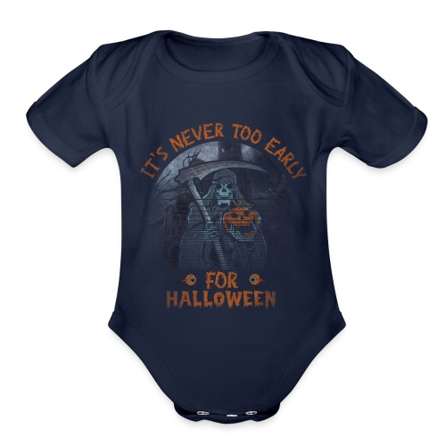 Never To Early - Organic Short Sleeve Baby Bodysuit