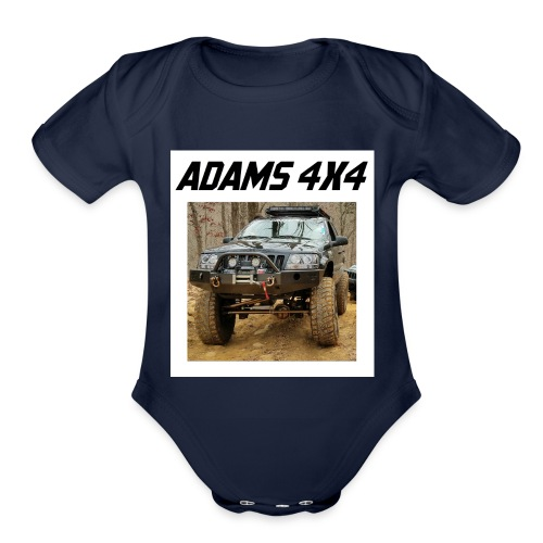 Adams4x4_Tshirt_1 - Organic Short Sleeve Baby Bodysuit