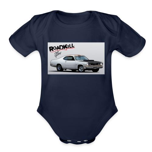 roadkill - Organic Short Sleeve Baby Bodysuit