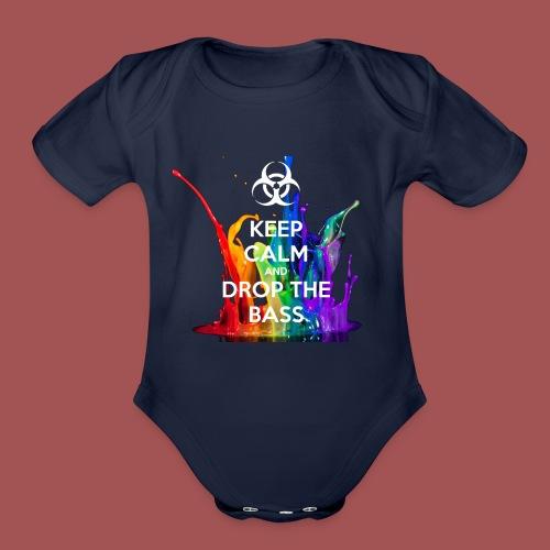Drop The Bass - Organic Short Sleeve Baby Bodysuit