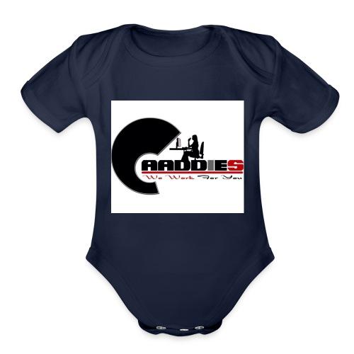 caaddies - Organic Short Sleeve Baby Bodysuit