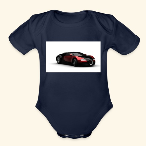 Chell's Shop of cars - Organic Short Sleeve Baby Bodysuit