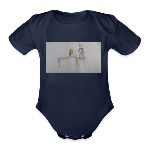 fan art test 1 - Organic Short Sleeve Baby Bodysuit