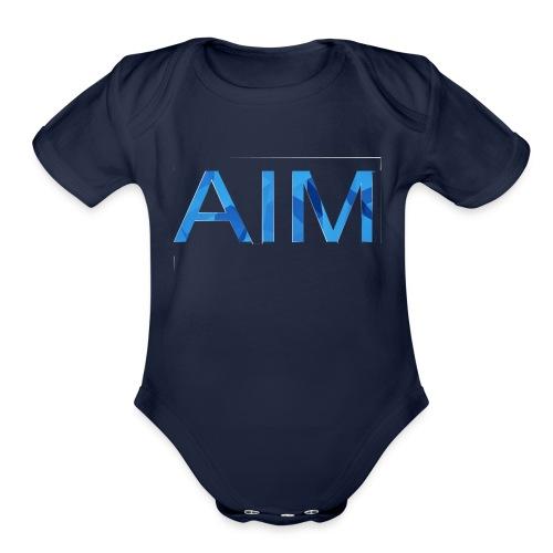 AIM logo - Organic Short Sleeve Baby Bodysuit