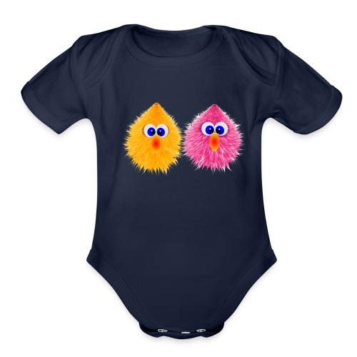 ANIMI2 - Organic Short Sleeve Baby Bodysuit
