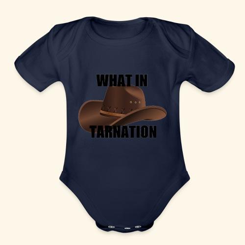 What In Tarnation Meme - Organic Short Sleeve Baby Bodysuit