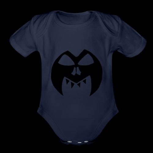 Black Transparent Logo - Organic Short Sleeve Baby Bodysuit