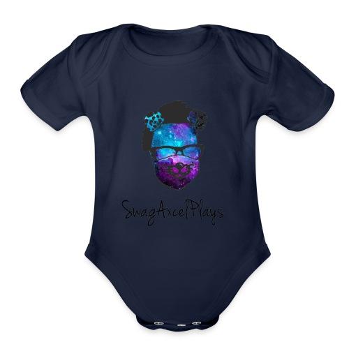 SwagAxcelPlaysV2 Galaxy - Organic Short Sleeve Baby Bodysuit