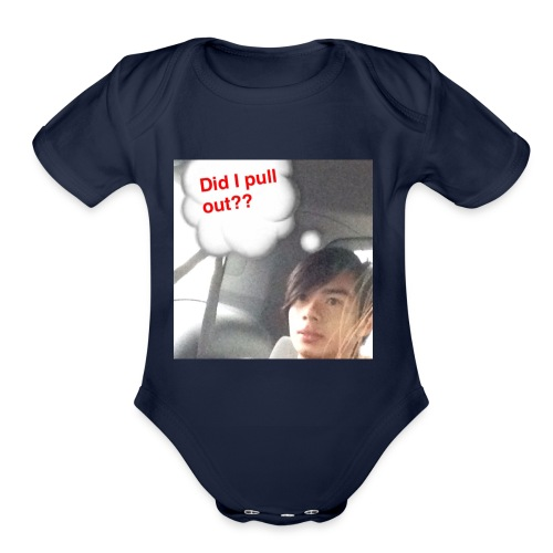 Mistake Broken Condom Johnson - Organic Short Sleeve Baby Bodysuit
