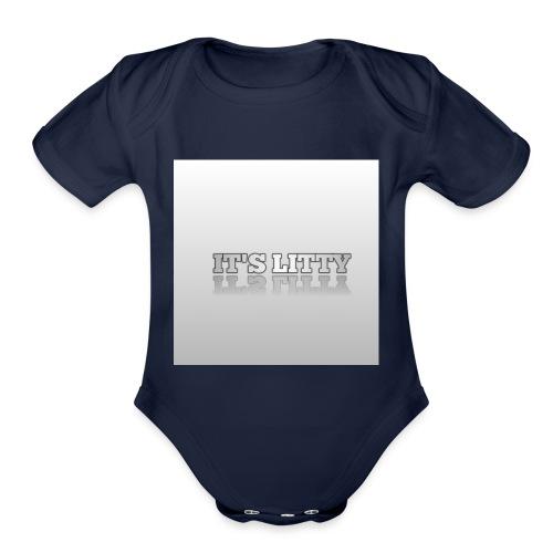 IT'S LITTY - Organic Short Sleeve Baby Bodysuit