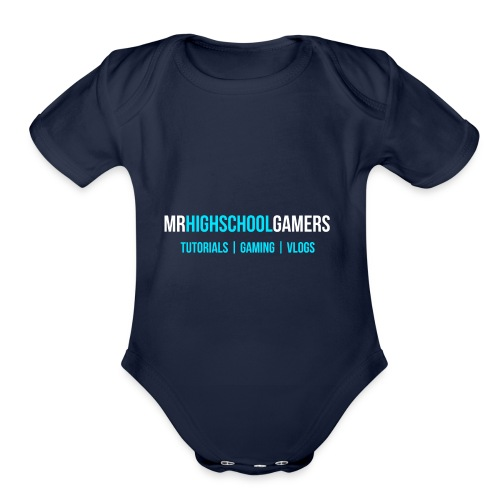 Logo and Sub-heading - Organic Short Sleeve Baby Bodysuit