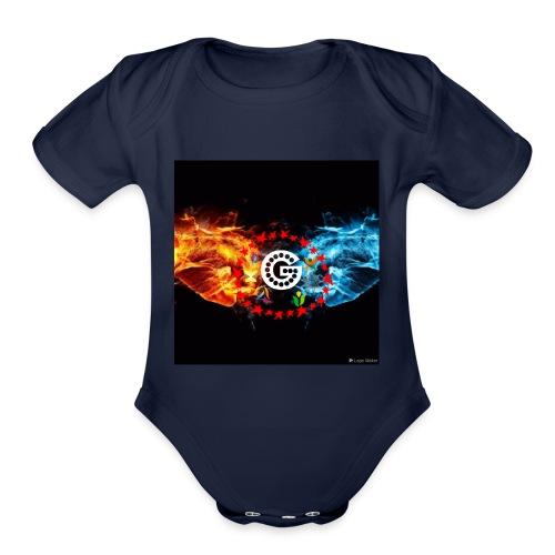 My utube logo - Organic Short Sleeve Baby Bodysuit
