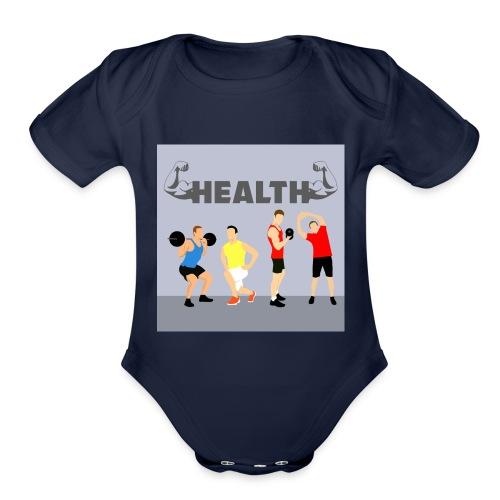Gym wear present for everyone gift idea - Organic Short Sleeve Baby Bodysuit