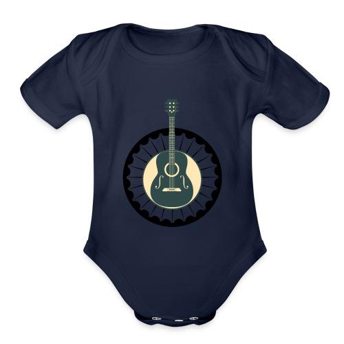 guitar mexican - Organic Short Sleeve Baby Bodysuit
