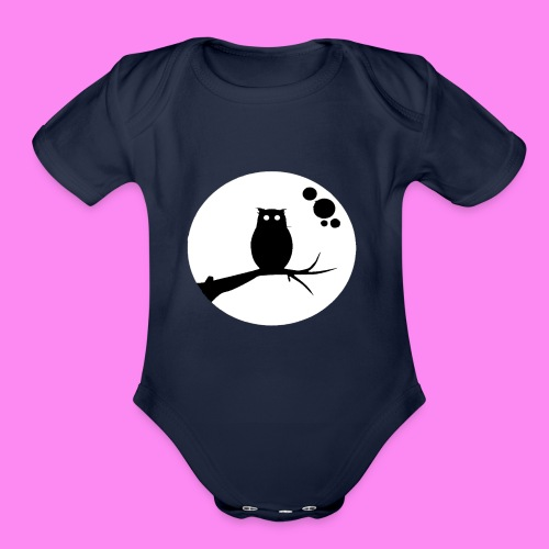 the owl awake - Organic Short Sleeve Baby Bodysuit