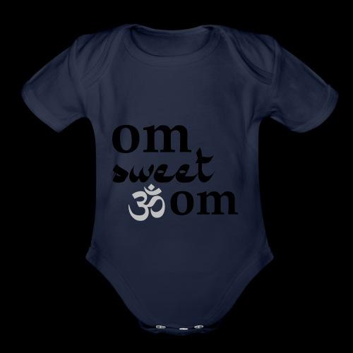 Om Sweet Om - Organic Short Sleeve Baby Bodysuit