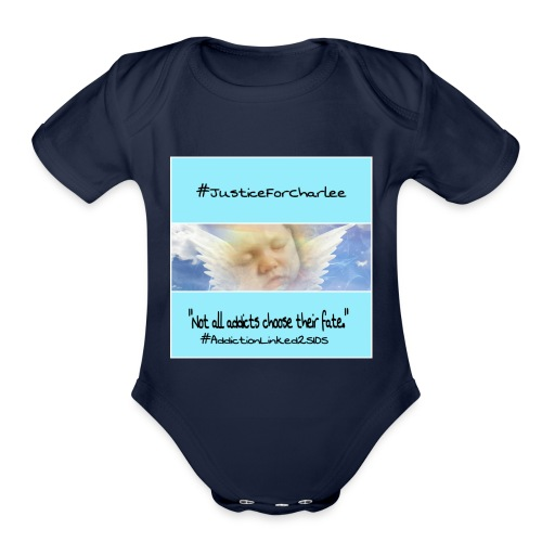 Justice For Charlee - Organic Short Sleeve Baby Bodysuit