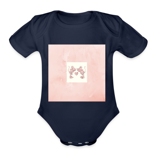 Minnie and Mickey Love - Organic Short Sleeve Baby Bodysuit