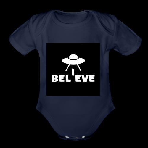 I believe - Organic Short Sleeve Baby Bodysuit