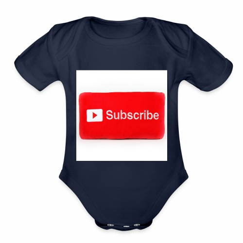 Subscribe T=shirts - Organic Short Sleeve Baby Bodysuit