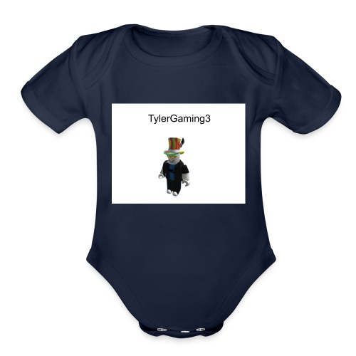 TylerGaming3 Roblox - Organic Short Sleeve Baby Bodysuit