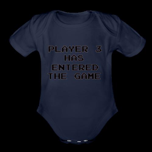 Player Three - Organic Short Sleeve Baby Bodysuit