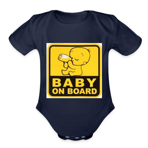 baby inside - Organic Short Sleeve Baby Bodysuit